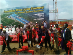 FOUNDATION STONE LAYING CEREMONY FOR TWYFORD(T) CERAMICS TIL