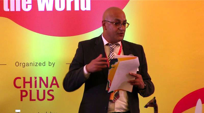 "Ghaleeb Jeppie, Chief Director for International Relations of the Department of Higher Education and Training of South Africa, addresses the ""From University to the World 2017"" dialogue in Cape Town on September 1, 2017.[Photo: China Plus]"